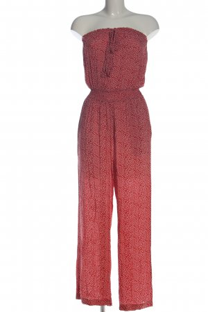 Hallhuber Langer Jumpsuit rojo-blanco look casual