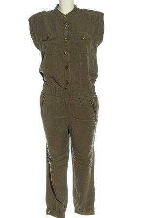 Hallhuber Langer Jumpsuit khaki W stylu casual