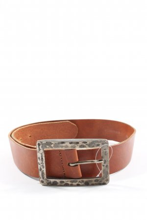 Hallhuber Cintura di pelle marrone stile casual