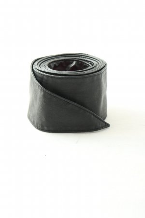 Hallhuber Cintura di pelle nero stile casual
