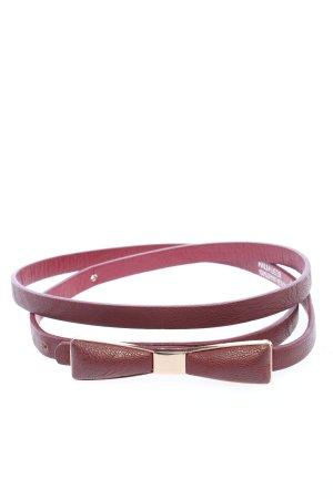 Hallhuber Cinturón de cuero marrón look casual
