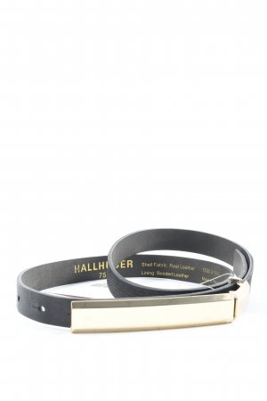 Hallhuber Leather Belt black business style