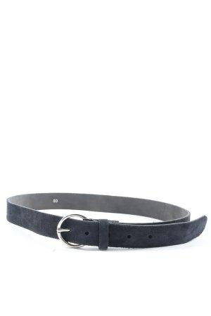 Hallhuber Leather Belt blue casual look