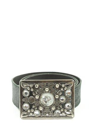Hallhuber Cinturón de cuero negro elegante