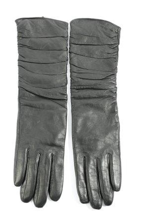 Hallhuber Leren handschoenen zwart casual uitstraling