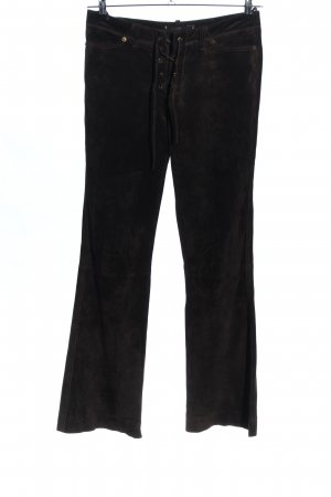 Hallhuber Leather Trousers black casual look