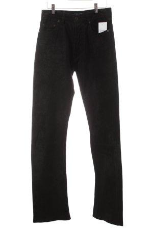 Hallhuber Pantalone in pelle nero