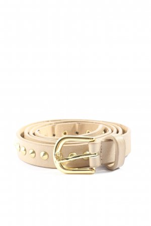Hallhuber Faux Leather Belt cream-gold-colored casual look