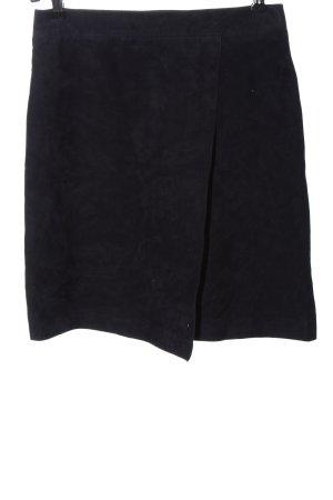 Hallhuber Leather Skirt black casual look