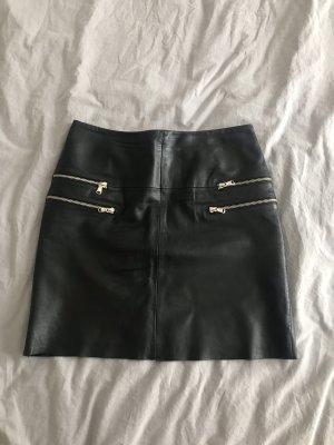 Hallhuber Skórzana spódnica czarny