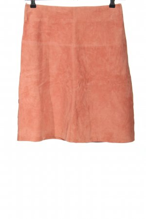 Hallhuber Leather Skirt pink casual look