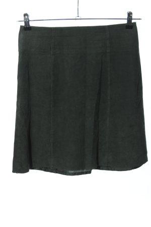 Hallhuber Lederrock schwarz Casual-Look