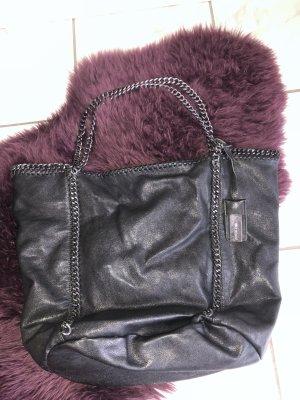Hallhuber Shopper black-silver-colored