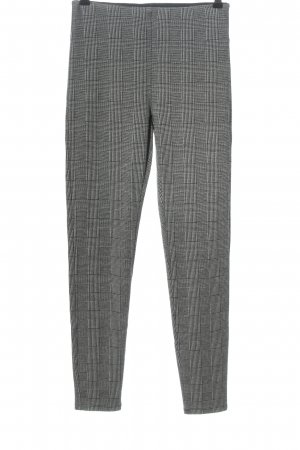 Hallhuber Leggings white-black check pattern casual look