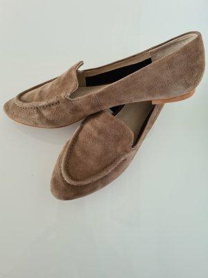Hallhuber Pantofel szaro-brązowy-beżowy Skóra