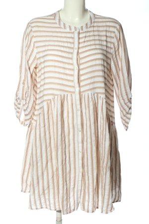 Hallhuber Robe chemisier blanc-brun style décontracté