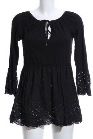 Hallhuber Long-Bluse schwarz Casual-Look