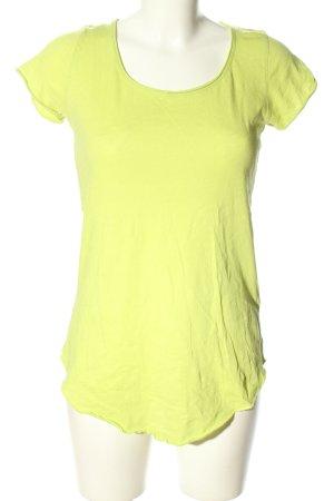 Hallhuber Longshirt blassgelb Casual-Look
