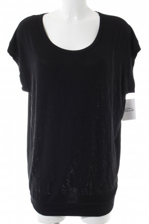 Hallhuber Longshirt schwarz Glitzer-Optik