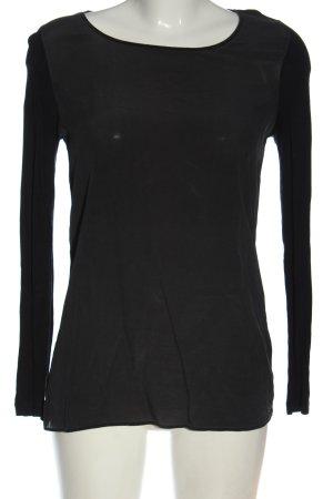 Hallhuber Koszulka z długim rękawem czarny W stylu casual