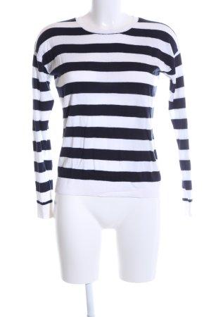 Hallhuber Longsleeve schwarz-weiß Streifenmuster Casual-Look