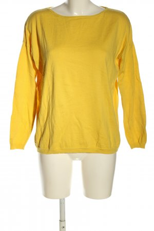 Hallhuber Top à manches longues jaune primevère style décontracté