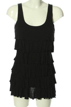 Hallhuber Lange top zwart extravagante stijl