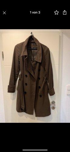 Hallhuber-Mantel aus Wolle & Kaschmir in Braun & Größe 34