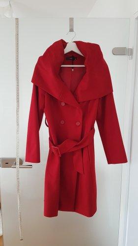 Hallhuber Cappotto con cappuccio rosso scuro