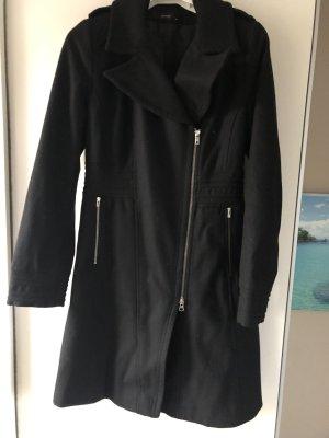 Hallhuber Mantel Wolle Gr. S 36 schwarz