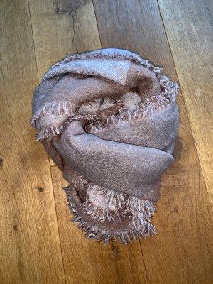 Hallhuber Bufanda de lana color rosa dorado-rosa empolvado