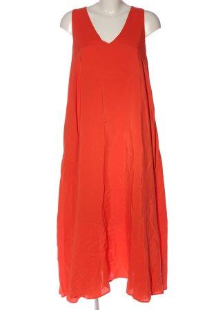 Hallhuber Robe longue rouge style décontracté