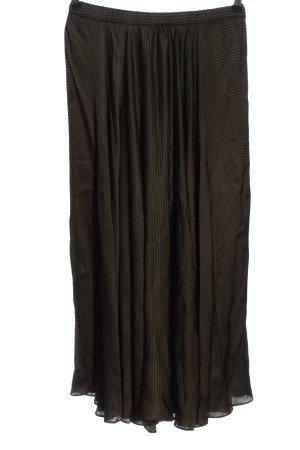 Hallhuber Maxirock khaki-schwarz Streifenmuster Casual-Look
