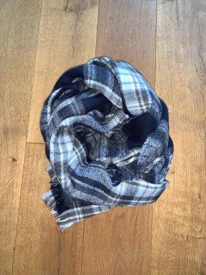 Hallhuber Wollen sjaal donkerblauw-azuur