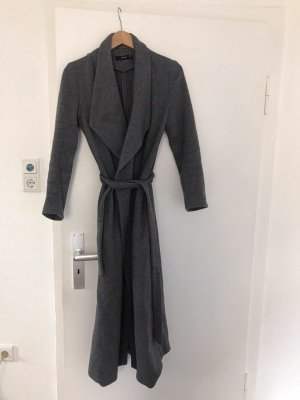 Hallhuber Midi-Mantel aus Wolle anthrazit grau