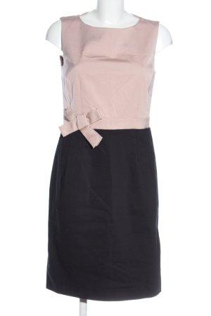 Hallhuber Midikleid pink-schwarz Business-Look