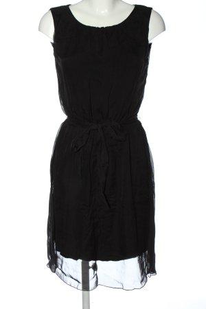 Hallhuber Szyfonowa sukienka czarny W stylu casual