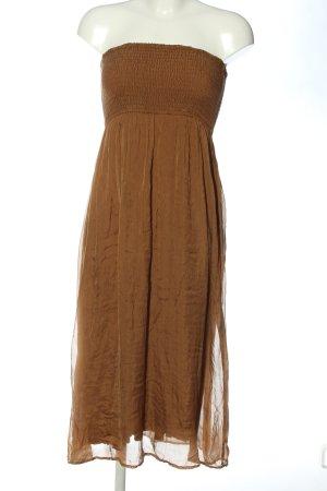 Hallhuber Robe mi-longue brun style festif