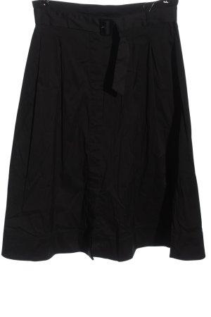 Hallhuber Jupe à plis noir style classique