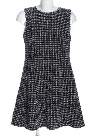 Hallhuber Minikleid schwarz-weiß Webmuster Casual-Look