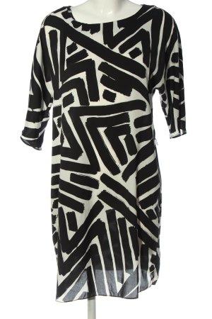 Hallhuber Minikleid weiß-schwarz Allover-Druck Elegant