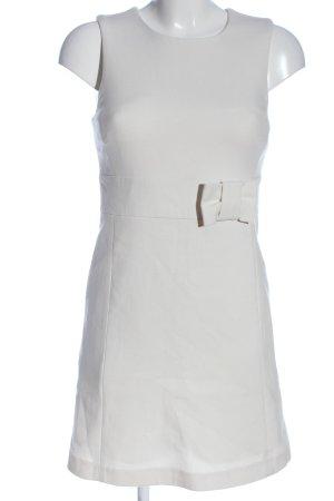Hallhuber Minikleid weiß Streifenmuster Casual-Look