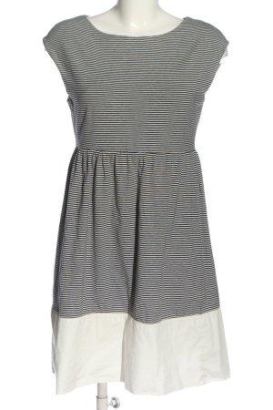 Hallhuber Minikleid schwarz-weiß Streifenmuster Casual-Look