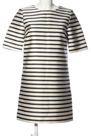 Hallhuber Minikleid weiß-schwarz Streifenmuster Casual-Look