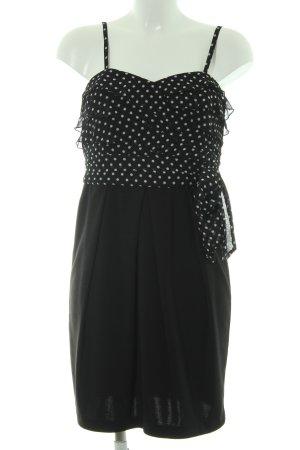 Hallhuber Minikleid schwarz-weiß Punktemuster Casual-Look