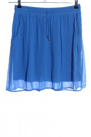 Hallhuber Minirock blau Casual-Look