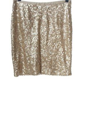 Hallhuber Minirock goldfarben Elegant
