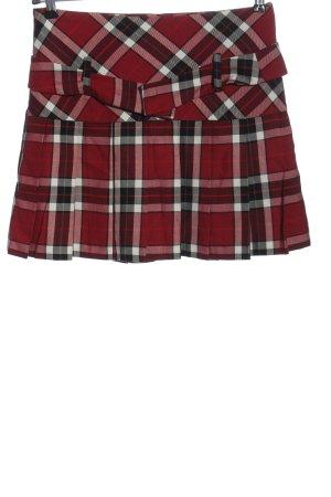 Hallhuber Miniskirt check pattern casual look