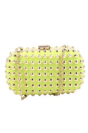 Hallhuber Minitasche grün-goldfarben Elegant