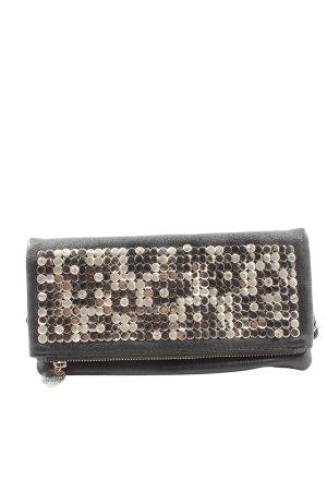 Hallhuber Minitasche schwarz-silberfarben Elegant